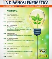 """Seminario tecnico: """"La diagnosi energetica dalle norme UNI EN 16247 al D. LGS. 102/2014"""""""