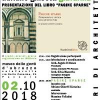 """ARCHI-THE'  – Ciclo di Eventi Culturali – Il Terzo: """"Pagine Sparse""""  – 02 Ottobre 2018 –  con Adriano Ghisetti"""